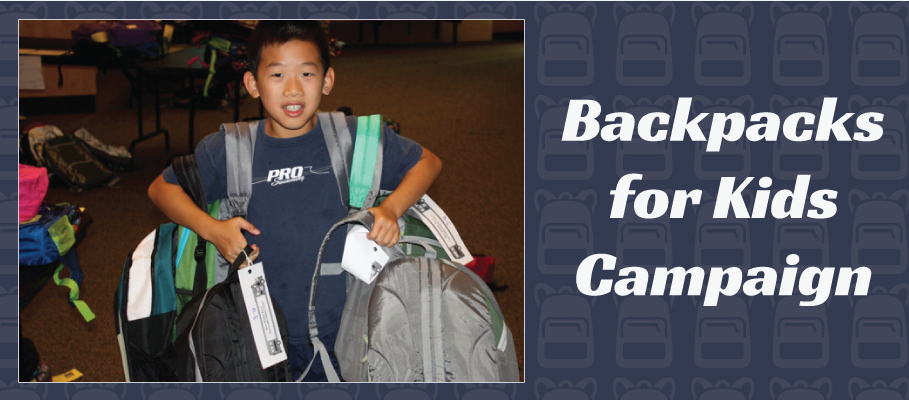 LDC Backpacks for Kids Campaign