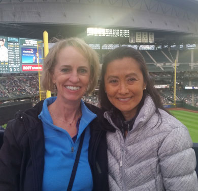 LDC employees at Mariners game