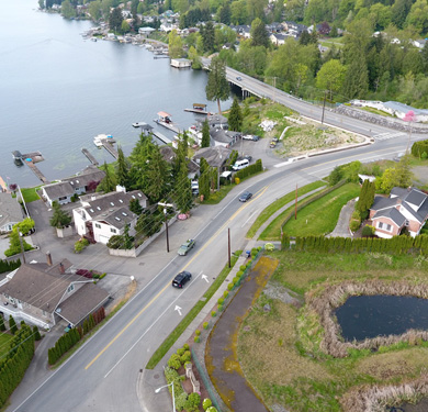 Lake Stevens Road Aerial Shot