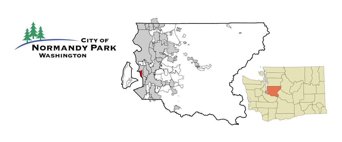 Normandy Park Logo and Map