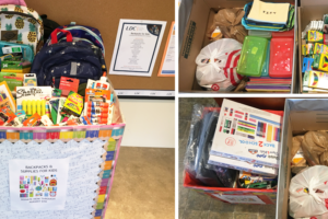 Backpacks for Kids Donation Boxes
